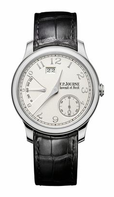 Journe Chronometre Souverain with White Gold Dial and Platinum Case Fossil Watches For Men, Fine Watches, Luxury Watches For Men, Cool Watches, Men's Watches, Pocket Watches, Unique Watches, High End Watches, Casual Watches