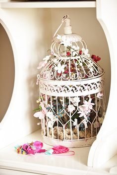 I can turn my birdcage from the wedding into a useful one for the nursery...