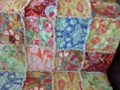 SALE  Amy Butler Love Baby Rag Quilt by sweetbabyjamie on Etsy, $35.00