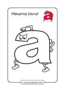 Mewarnai Huruf A : mewarnai, huruf, Asca123