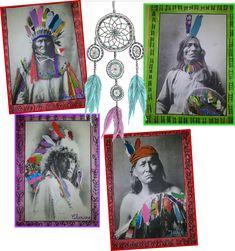 Comment rendre des chefs indiens beaucoup plus sympathique avec des collages et du coloriage !