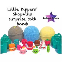 Little Dippers Shopkins surprise bath bomb by thecosmiccompany