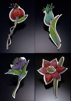 Deb Karash Metal jewelry with Prismacolor pencil / Мультяшные украшения от Deb Karash - Ярмарка Мастеров - ручная работа, handmade