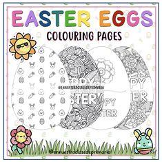 En nuestra clase de Primaria: COLOREANDO HUEVOS DE PASCUA Bullet Journal, Words, Easter Colouring, Primary Education, Easter Eggs, Teachers, Mandalas, Horse