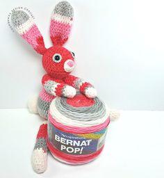 crochet amigurumi rabbit patterns Bunny ODC Free Pattern 1 Ball Bernat Pop - Just A Little Bunny - A Free Crochet Pattern Crochet For Boys, Diy Crochet, Crochet Dolls, Crochet Ideas, Crochet Baby, Crocheted Toys, Crochet Crafts, Easter Crochet Patterns, Amigurumi Patterns