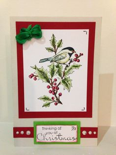 Stampin Up Beautiful Season Xmas card