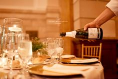 The best champagne poured by the best staff at 90 State Events. Photo Credit - Casey Mackenzie Photography