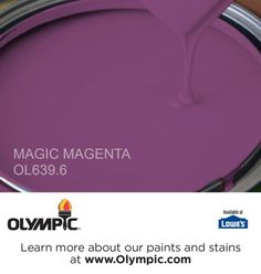 MAGIC MAGENTA OL639.6 is a part of the purples collection by Olympic® Paint.