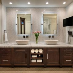 Bathroom Mirrors Backlit Design Ideas, Pictures, Remodel and Decor