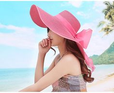 2016 Straw Hats For Women's Female Summer Ladies Wide Brim Beach Hats Sexy Chapeau Large Floppy Sun Caps New Brand Spring Praia-in Sun Hats from Women's Clothing & Accessories on Aliexpress.com | Alibaba Group