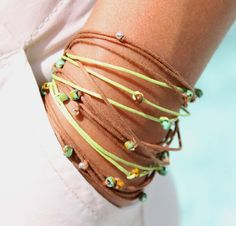 Fall and Winter will be very Summery this year - at least for me - I am having fun with this TOHO BOHO Cord Wrap Bracelets collection - inspired by