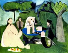 Pablo Picasso. The dejenuer on the grass (Manet) 1, 1960