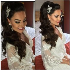 "146 Likes, 11 Comments - Drita Pali (@glamourbydrita) on Instagram: ""Beautiful bride Kristen @that_shi_cray makeup by me hair by my amazing sister @senadakxo headpiece…"""