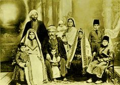 Ramallah - رام الله : RAMALLAH - A Palestinian family of Ramallah in their traditional regalia, 1914 - ( Per Reem Ackall )