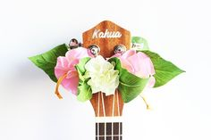 This is ribbon lei for ukulele This is the head accessories of ukulele It is made with ribbon the flower name is hibiscus one-size-fits-all These lei have stretchy It is Ukulele Case, Ukulele Straps, Hibiscus, Ukulele Accessories, Ribbon Lei, Ribbon Flower, Hawaiian Crafts, Music Teacher Gifts, Music Gifts