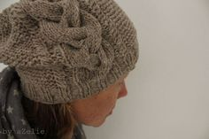 Need to make another slouchy cable hat this winter, as my other two have stretched out too much.