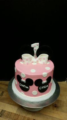 Twin Girls Baby Elephant First Birthday Cake Cakes Pinterest