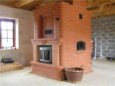 Russian Wood Stoves (Masonry Stoves) - Home Energy Pros Forum Old Technology, Home Fireplace, Natural Building, House In The Woods, Foyer, Construction, Cabin, Rustic, Architecture