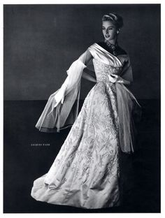 jacques fath gowns | Jacques Fath 1953 Jewels Scemama, Pottier Fashion Photography Evening ...