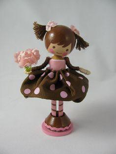 clothespin doll - etsy.....(aaawwww....so chocolatey sweet!)......