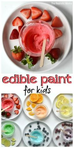 Edible Paint for Kids! It's as yummy as it looks! by laura