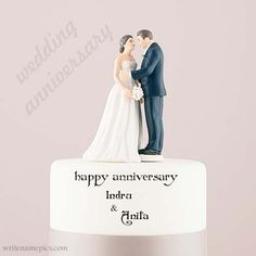 You Find Happy Anniversary wishes couple cake with name images. Free happy anniversary couple cake with name pic. Edit online happy anniversary wishes for a husband. happy anniversary wishes images for a c Wish You Happy Anniversary, Happy Marriage Anniversary Cake, Anniversary Cake With Photo, Happy Wedding Anniversary Wishes, Anniversary Greetings, Happy Wedding Day, Birthday Wishes, Happy Birthday, Anniversary Cards