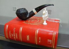 """Alfred Dunhill 2006 Christmas Pipe Shell Brair 5108 """"A Christmas Carol by Charles Dickens"""" 925er Silver"""