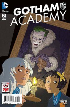 Gotham Academy Cover B Variant Craig Rousseau The Joker Anniversary Cover Comic Book Pages, Dc Comic Books, Comic Art, Gotham Academy, League Of Extraordinary, Midtown Comics, Arte Dc Comics, Arkham City, Manga Covers