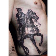 #burkovtt #tattoo #spb #sprut #black #ink #knight