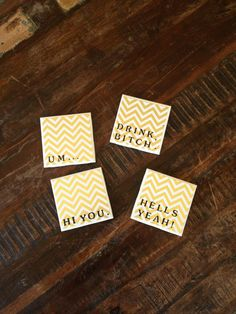 Our DIY coasters made by @Lisa Phillips-Barton Hendrickson. We love her creativity! #diy #madebyme #summercocktails