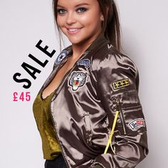 Sale Sale, Sale Items, Babe, Bomber Jacket, Vogue, Collections, Boutique, Jackets, Fashion Trends