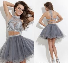 This Short Sleeveless Backless With High Neck Made Of Organza. With This You Are Ready For The Ball. $212.00. sprightenterprise.com