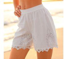 Šortky macramé | blancheporte.sk #blancheporte #blancheporteSK #blancheporte_sk #sortky #shorts Lace Shorts, White Shorts, Women, Fashion, Moda, Women's, La Mode, Fasion, Fashion Models