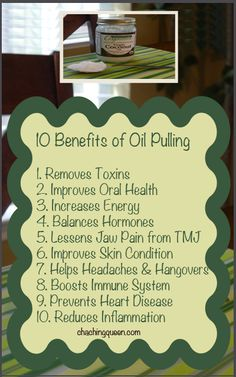 10 Benefits of Swishing Coconut Oil in Your Mouth (Oil Pulling) – Why I Swish with Coconut Oil Most Mornings – Cha Ching Queen