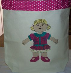 Paper Doll Kid Babies  Chatter Totes by KidBabies on Etsy, $30.00