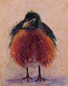 """The second of my robin series """"Ruffled Feathers"""""""