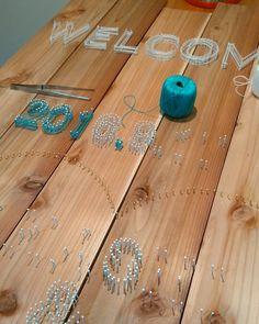 海外発!糸と釘だけあれば出来る最近のストリングアートが凄すぎ   marry[マリー] Diy Wedding, Rustic Wedding, Wedding Photos, Welcome Boards, Diy And Crafts, Backdrops, Handmade, Weddings, Design