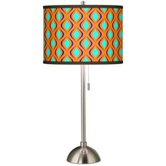 Retro Lattice Giclee Novo Table Lamp