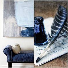 WABI SABI Scandinavia - Design, Art and DIY.: Adding deep blue color to a monochrome space