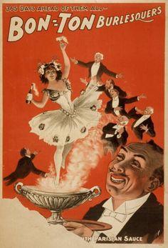 Poster for Burlesque Shows, via The Retroscope website Burlesque Vintage, Burlesque Show, Vintage Ads, Vintage Posters, French Posters, Vintage Prints, Decoupage, Show Boat, Retro Poster
