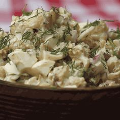 """Cauliflower """"potato salad"""" to keep your summers light and delicious (trust us)! Get the recipe now 👉 link in bio! Healthy Salads, Healthy Foods To Eat, Healthy Eating, Entree Recipes, Veggie Recipes, Healthy Recipes, Cauliflower Potatoes, Vegetable Side Dishes, Summer Recipes"""