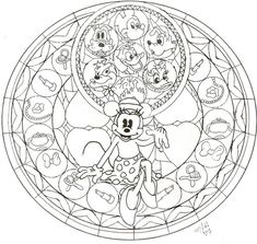 KH: Minnie Stained Glass WIP by CutenCuddlyPadfoot on DeviantArt