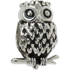 Connections from Hallmark Stainless Steel Owl Charm - Walmart.com