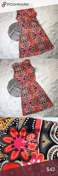 PrAna Sleeveless Floral Paisley Half Wrap Dress *PrAna Breathe Women's Sleeveless Floral Paisley Half Wrap Dress *Size Medium * Made of 45% recycled polyester, 45% polyester & 10% spandex. * Pre-owned, but in excellent used condition. * Measurements: Underarm to underarm is 18 inches. Length is 39 inches. Prana Dresses Midi