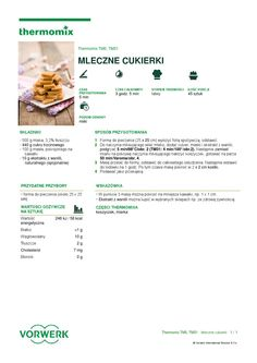 thermomix - Mleczne cukierki Make It Simple, Cake Recipes, Food And Drink, Sweets, Food Cakes, Drinks, Cooking, How To Make, Candy