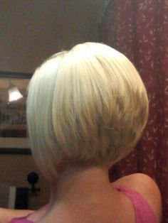 blond inverted stacked bob - Google Search