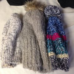 3 AEO Beanies for your fave hat lover! Soft and comfy. If you only want a single one, let me know! American Eagle Outfitters Accessories Hats