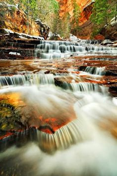 Archangel Falls, Zion National Park, Utah, USA. Photo by Joshua Cripps Photography. Beautiful.