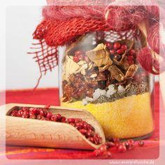 Geschenk für Gourmets aus der Energieküche // www.energiekueche.de Polenta, Snow Globes, Healthy Recipes, Blog, Decor, Gourmet, Vegetarian Dinners, Mushrooms, Gifts