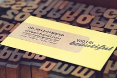 oh, hello friend: you are loved.: my alt summit business cards:
